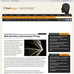 Motivation Key to Internet-based Therapy