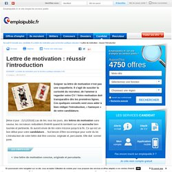 Lettre de motivation : réussir l'introduction