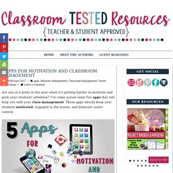 5 Apps for Motivation and Classroom Management
