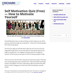 Self Motivation Quiz (Free) — How to Motivate Yourself