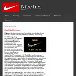 Motivation « Nike Inc.