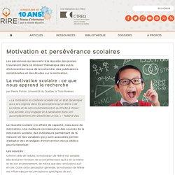 Motivation et persévérance scolaires - Thèmes