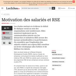 Motivation des salariés et RSE