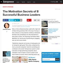 The Motivation Secrets of 8 Successful Business Leaders