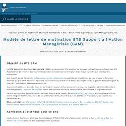 Lettre de motivation BTS Support à l'Action Managériale (SAM)