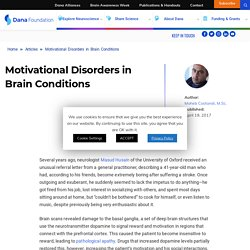 Motivational Disorders in Brain Conditions
