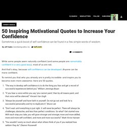 50 Inspiring Motivational Quotes to Increase Your Confidence
