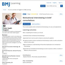 Motivational interviewing in brief consultations