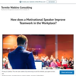 How does a Motivational Speaker Improve Teamwork in the Workplace? – Termite Watkins Consulting