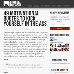49 motivational quotes to kick yourself in the ass