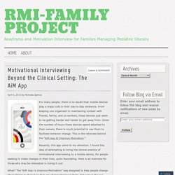 Motivational Interviewing Beyond the Clinical Setting: The AiM App