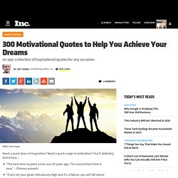 300 Motivational Quotes to Help You Achieve Your Dreams