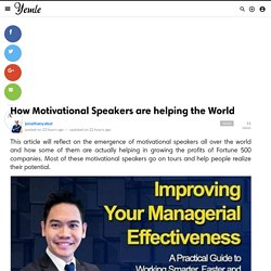 How Motivational Speakers are helping the World