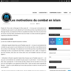 Les motivations du combat en islam