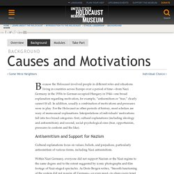 Causes and Motivations — United States Holocaust Memorial Museum