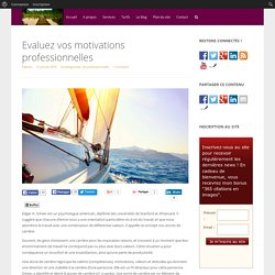 Evaluez vos motivations professionnelles