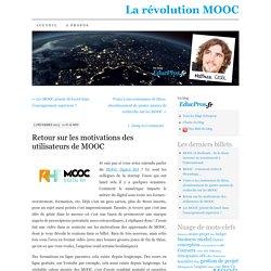 Retour sur les motivations des utilisateurs de MOOC (et offre de stage)