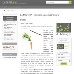 article : motiver ses collaborateurs