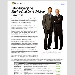 Home - Motley Fool Stock Advisor