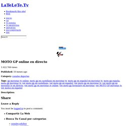 MOTO GP online en directo « latelete.tv