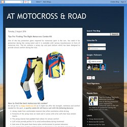 Tips For Finding The Right Motocross Combo Kit