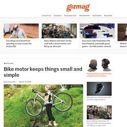 Bike motor keeps things small and simple