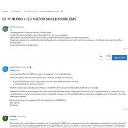 D1 mini pro + i2c motor shield problems