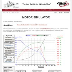 Motor Simulator - Tools