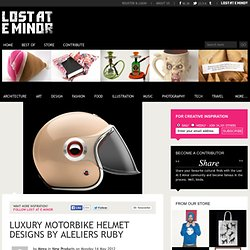 Luxury motorbike helmet designs by Aleliers Ruby