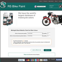 RS Motorbike Paint Boutique en ligne