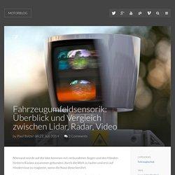 Motorblog » Fahrzeugumfeldsensorik: Überblick und Vergleich zwischen Lidar, Radar, Video