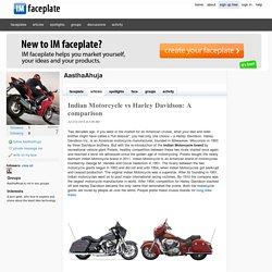 Indian Motorcycle vs Harley Davidson: A comparison by AasthaAhuja