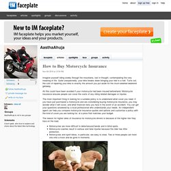 How to Buy Motorcycle Insurance by AasthaAhuja