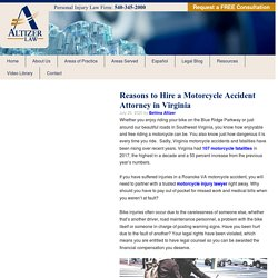 Reasons to Hire a Motorcycle Accident Attorney in Virginia - Altizer Law