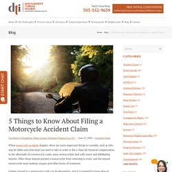 Filing a Motorcycle Accident Claim