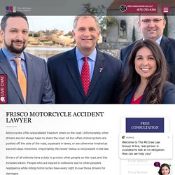 Frisco Motorcycle Accident Lawyer