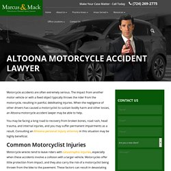 Altoona Motorcycle Accident Lawyer
