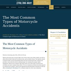 The Most Common Types of Motorcycle Accidents - Brockman Law Firm