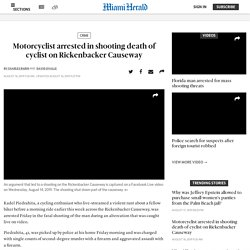 Motorcycle rider arrested in shooting death of cyclist