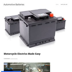 Motorcycle Electrics Made Easy