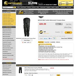 Motorcycle Clothing - WEISE NRG Textile Motorbike Trousers Mens