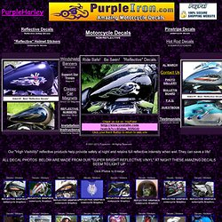 Motorcycle Decals/Stickers PurpleHarley Motorcycle