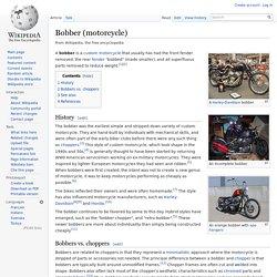 Bobber (motorcycle)
