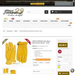 IRON & RESIN Cafe Glove Motorcycle Gloves - Gold - Ferro29 Special Rider's Store
