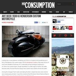 Art Deco 1930 KJ Henderson Custom Motorcycle