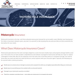 What Does Motorcycle Insurance Cover?