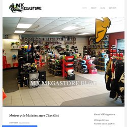 Motorcycle Maintenance Checklist