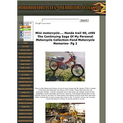Mini Motorcycle Pictures Of Honda Trail 90, ct90, ct70