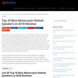 Top 10 Best Motorcycle Helmet Speakers in 2018 Reviews (June. 2018)
