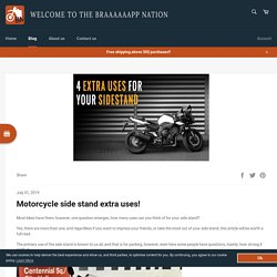 How To Use A Motorcycle Side Stand – Braaaaaapp
